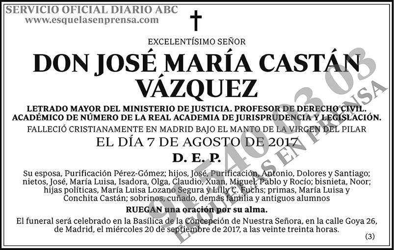 José María Castán Vázquez